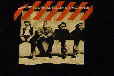 U2 how to dismantle a atomic bomb concert large t shirt 2001