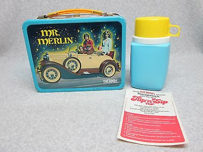 Best-On-ebay 1982 MR MERLIN Tv LUNCHBOX & THERMOS Unused MiNt  C#9.5