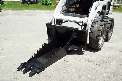 "Skid Steer Extreme Duty Stump Bucket,56"" Long,Saw Teeth,Made In USA,Fits All"