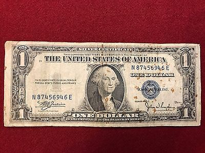 1935 C $1 Dollar Bill Star Silver Certificate Blue Seal Note Currency