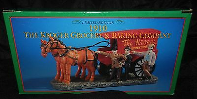 Vintage Limited Edition 1910 Kroger Grocery & Baking Co Horse And Wagon Replica