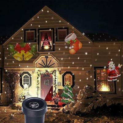 Waterproof moving Laser Projector LED Lights Outdoor Xmas Landscape Decor Lamp