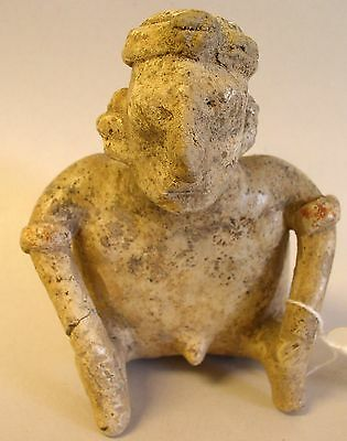 Pre-Columbian Seated Terracotta Male Figure - Colima - C. 300BC -300 AD