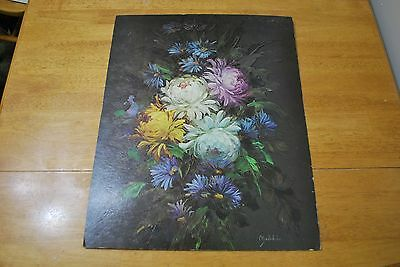 16 X 20 inch Peonies and Daisies by Madeleine Museum Print Edition -NICE!!