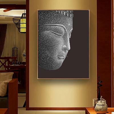 Modern Buddha Canvas Print Painting Wall Art Oil Picture Home Decor Unframed