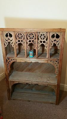 Very rare Armenien primitive rustic carved wooden kitchen cupboard