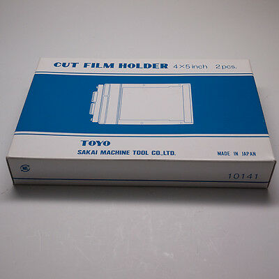 New Toyo 4 X 5 Cut Film Holder (Twin Pack, 2 Holders In Box)