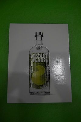 Absolut Vodka postcard - Absolut Pears / LAX Airport find