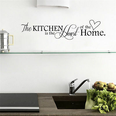 New DIY Removable Kitchen Words Wall Stickers Decal Home Decor Vinyl Art Mural