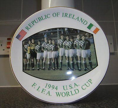 Souvenir Ceramic Plate - REPUBLIC OF IRELAND - FIFA WORLD CUP USA 1994