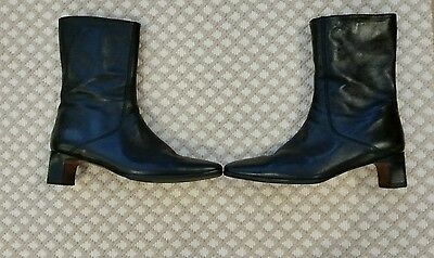 Cole Haan Black Butter Leather Boot, Size 7.5, Ladies