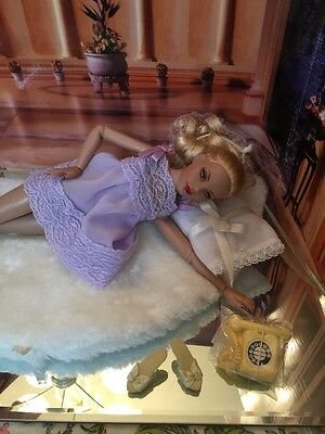 Tonner Lilac Baby Doll Nightie For Tiny Kitty Collier With Yellow Phone & Shoes