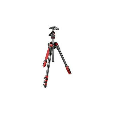 MANFROTTO BEFREE Kit Trépied Aluminium + Rotule ball Rouge