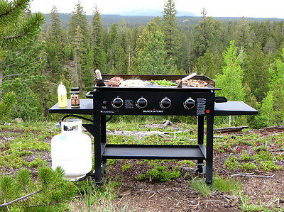 Flat Top Grill Gas Griddle Stove Outdoor Propane Large Gas BBQ Cooking Station