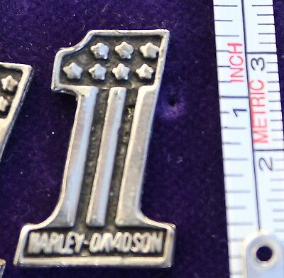 Harley Davidson pin Vintage 80s classic #1 and stars