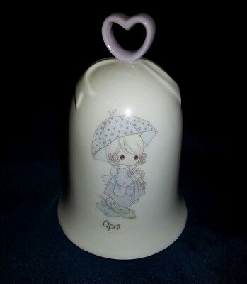 Precious moments birth month bell April porcelain
