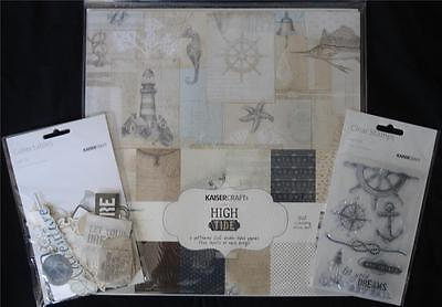 "Bulk Kit ~ High Tide ~ 12 Patterned Papers Stickers Stamp Set Die Cuts 12"" x 12"""