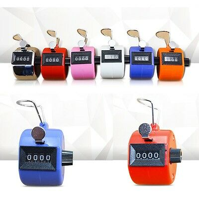 Hot 4 Digit Hand Held Tally Counter Golf Manual Number Counting Palm Clicker