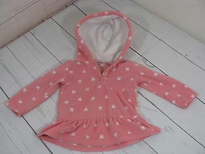"""""""Carter's """" Girls Pink Hooded Pullover Sweater  Size 18 Months - A1139"""