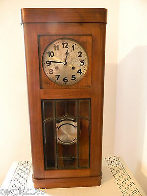Private Antique German Junghans wall clock with striking mechanism 12 pictures