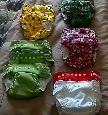 Baby land, Modern cloth nappies, bulk lot of 17