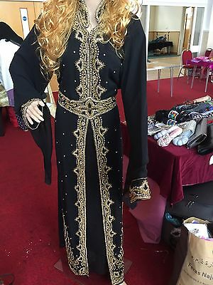 Brand New Abaya Kaftan Maxi Dress Maria B Asim Jofa Black