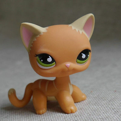 "LPS #525 COLLECTION Action Figure Deep Orange KITTY TOY 3"" LITTLEST PET SHOP"