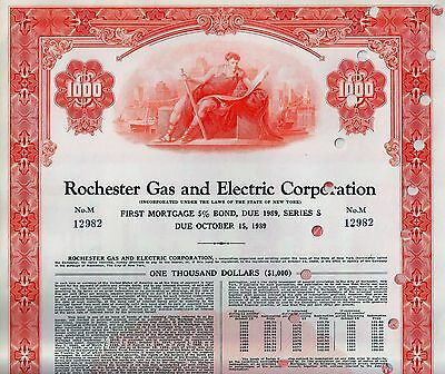 Rochester Gas & Electric Corp., 1959, 5% First Mortgage Bond due 1989 (1.000 $)