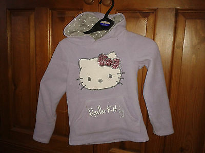 Girls hoodie has a fleecy feel to it hello kitty on the front bargain