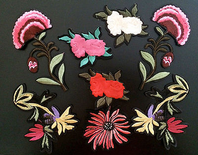 Patches Sew large Flower Applique clothing accessory embroidery DIY Motif coat