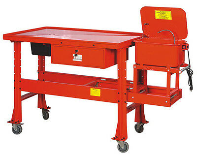 Tear Down Table with 3.5 Gallon Parts Washer - BRAND NEW