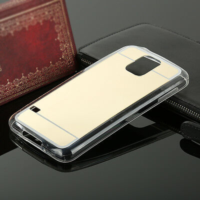 New Mirror Soft Silicone TPU Back Protective Case Cover For Samsung  S5 Gold