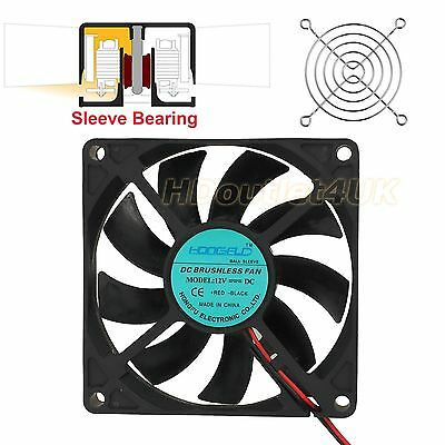 Brushless Case PC Computer Cooling Fan Cooler 80mm x 80mm x 15mm 2pin 12V Black