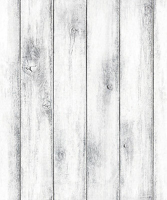 White Grey Wood Panel Look Contact Paper Self Adhesive Wallpaper Wall Stickers