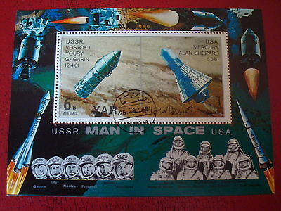 Yemen - 1969 Man In Space - Minisheet - Unmounted Used - Ex. Condition