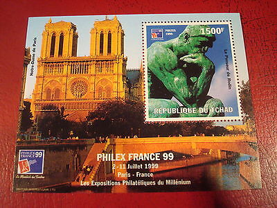 Chad - 1999 - Philex France - Minisheet - Unmounted Used - Ex Condition