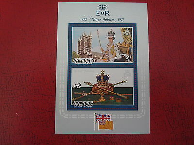 Niue - 1977 Silver Jubilee - Minisheet - Umm - Excellent Condition