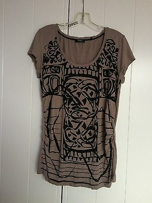 Noppies T-shirt de grossesse, taupe, taille M