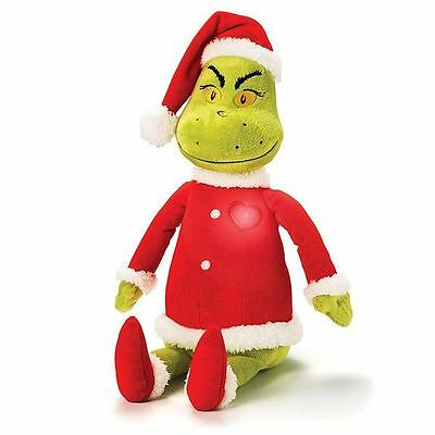 """*NEW* Dr Suess The Grinch that stole Christmas Light-Up Singing Plush 17"""""""