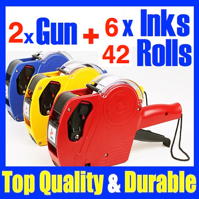 2 Price Pricing Gun Labeller 42 Labels Label & 6 Inks New mx 5500