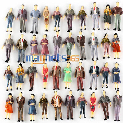 100 Modèle Personnage Figurines Passenegers Train Scénario 1:50 O Scale Mixed