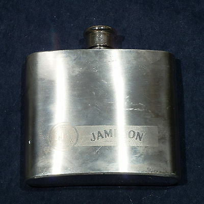 Hip Flask JAMESON IRISH WHISKEY Stainless Steel 5 OZ Collectible Promotional