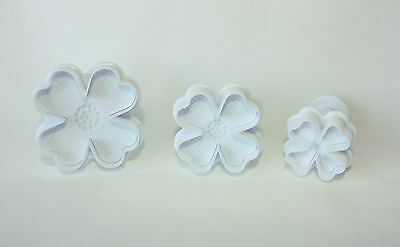 4 Leaf Clover Plunger Cutters, St Patrick's Day, Sugarcraft, Cake Decorating