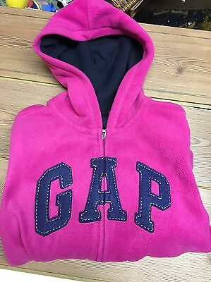 Gap Kid Gapkid Hoodie Hooded Fleece Children Top pink winter casual