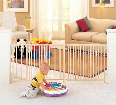 Swing Dog Pet Baby Child  Safety Gate 8+ ft. Wide  Durable Extra Wide