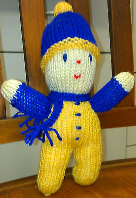 Winter Boy knitted doll