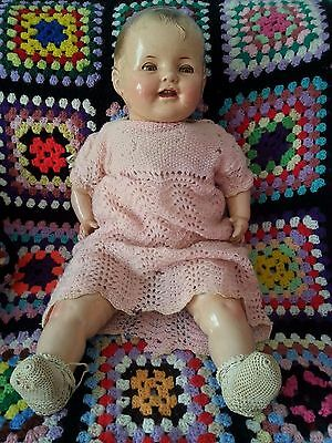 Antique Vintage plastic and cloth Baby Doll 1930