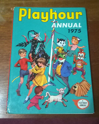 Playhour Annual 1975 Retro /Vintage Childrens Harback Book