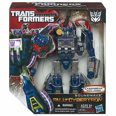Transformers Generations Fall of Cybertron Voyager Decepticon Soundwave NEW