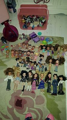 Large Bratz Dolls Bundle, 43 Dolls, And More